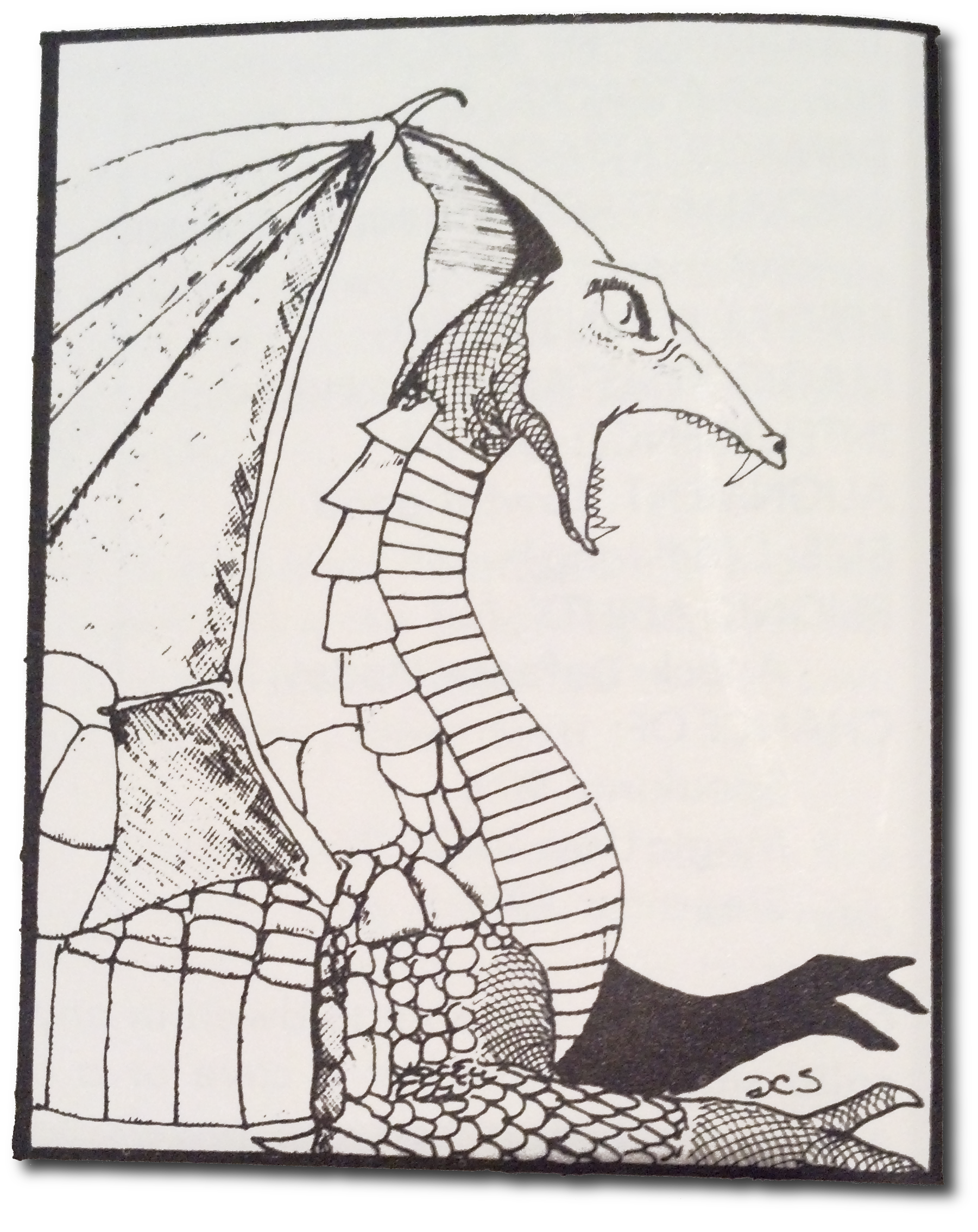 First Edition AD&D Monster Manual white dragon