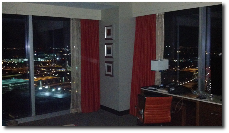 hotel view at night