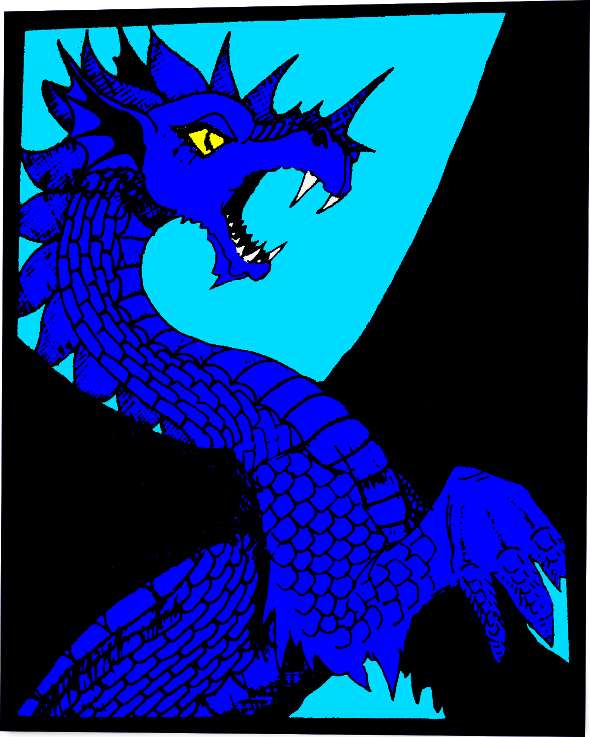 Colorized Blue Dragon