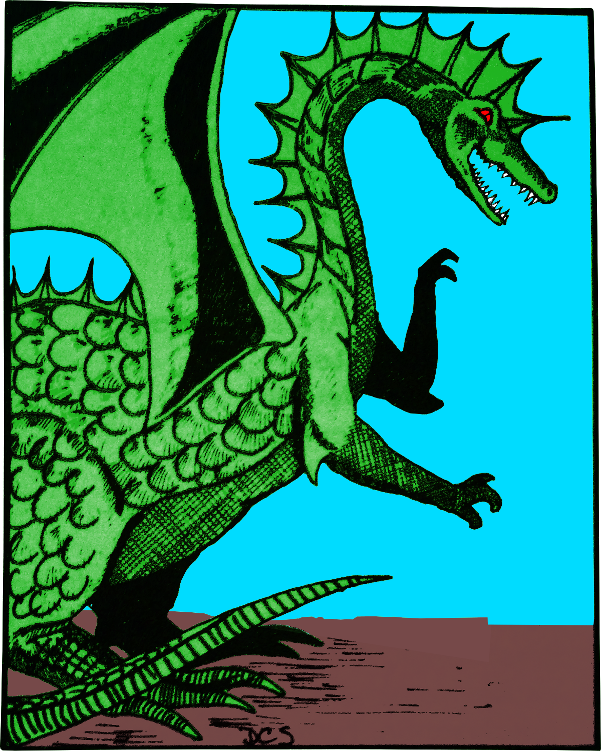 Colorized Green Dragon