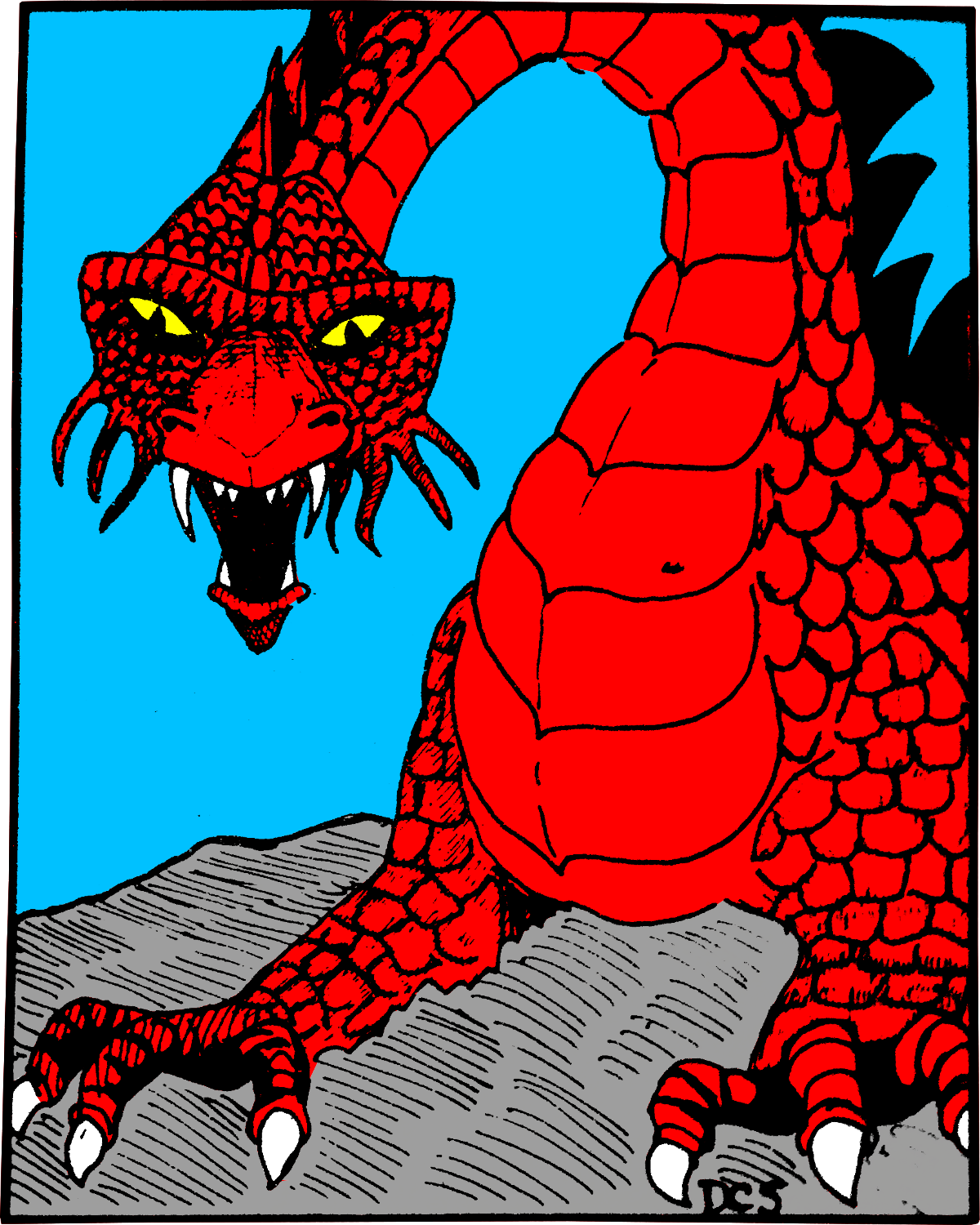 Colorized Red Dragon