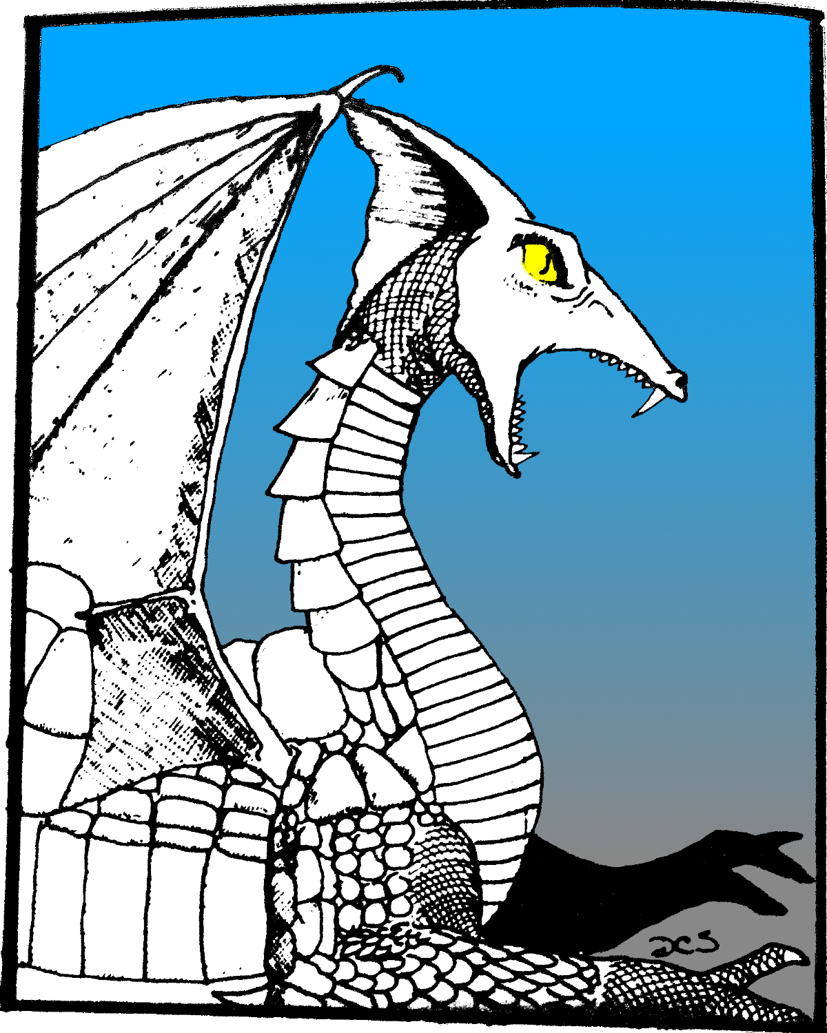 Colorized White Dragon