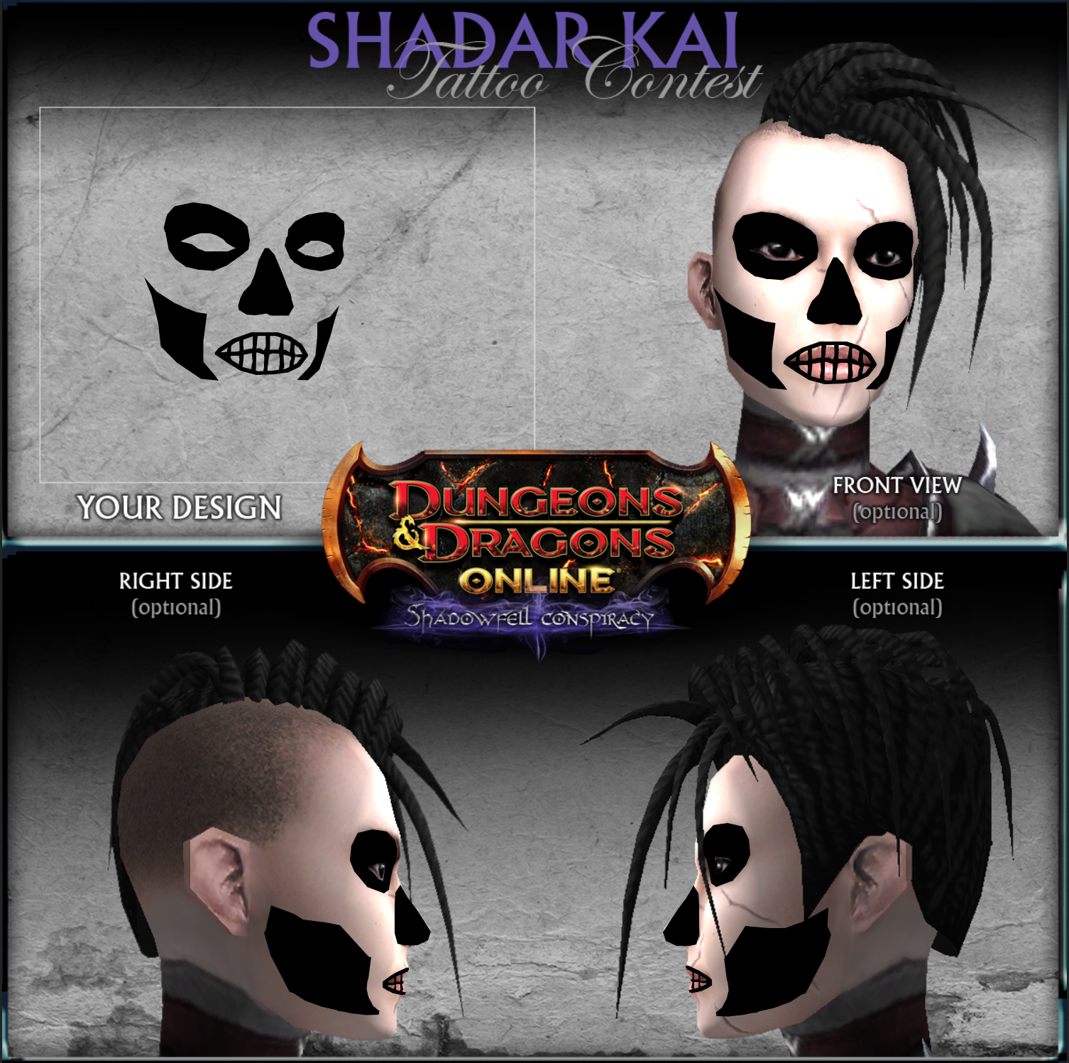 Shadar Kai tattoo contest entry