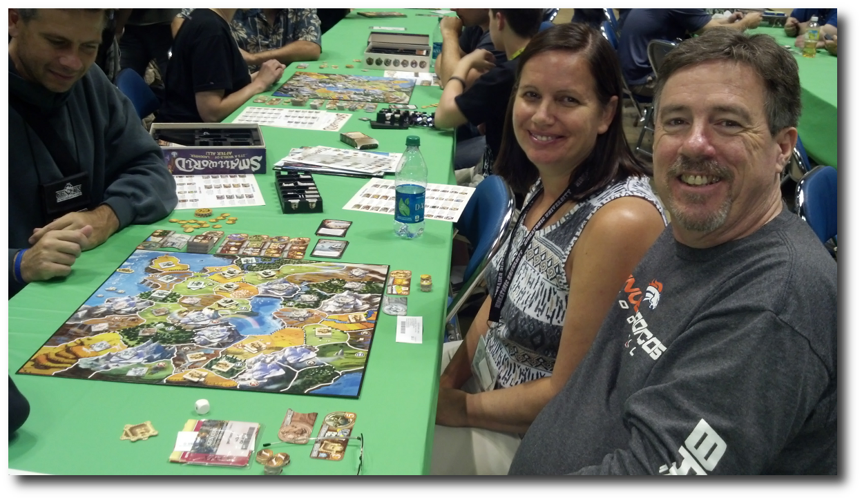 Me and my Gamer Girl at Smallworld Tales & Legends event