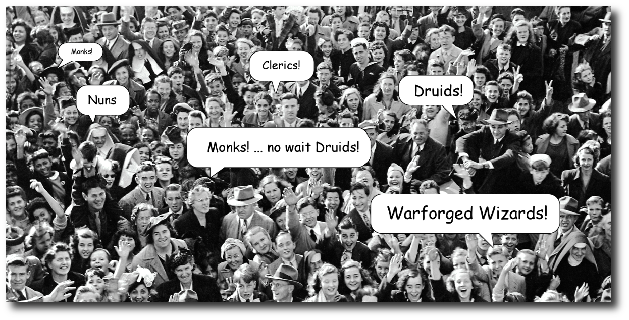 Monks ... no wait ... Druids!