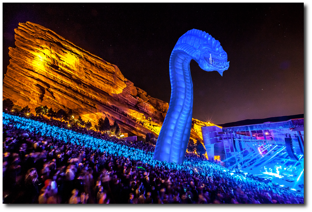 Purple Worm at Red Rocks