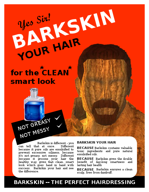 Barkskin -- the Perfect Hairdressing