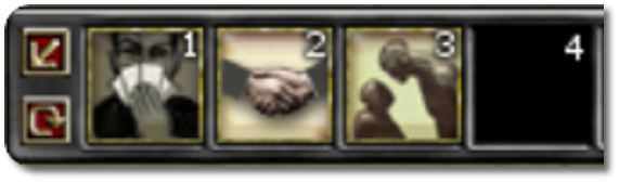 Charisma skill buttons