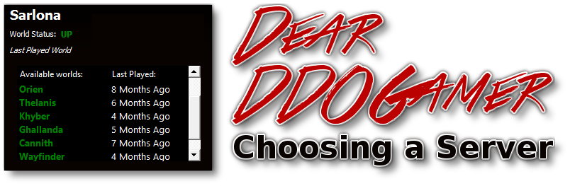 Dear DDOGamer: Choosing a Server