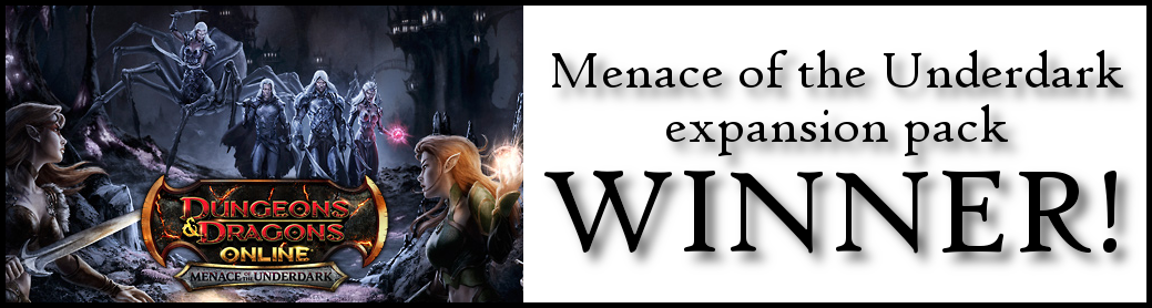 Menace of the Underdark Giveaway Winner!