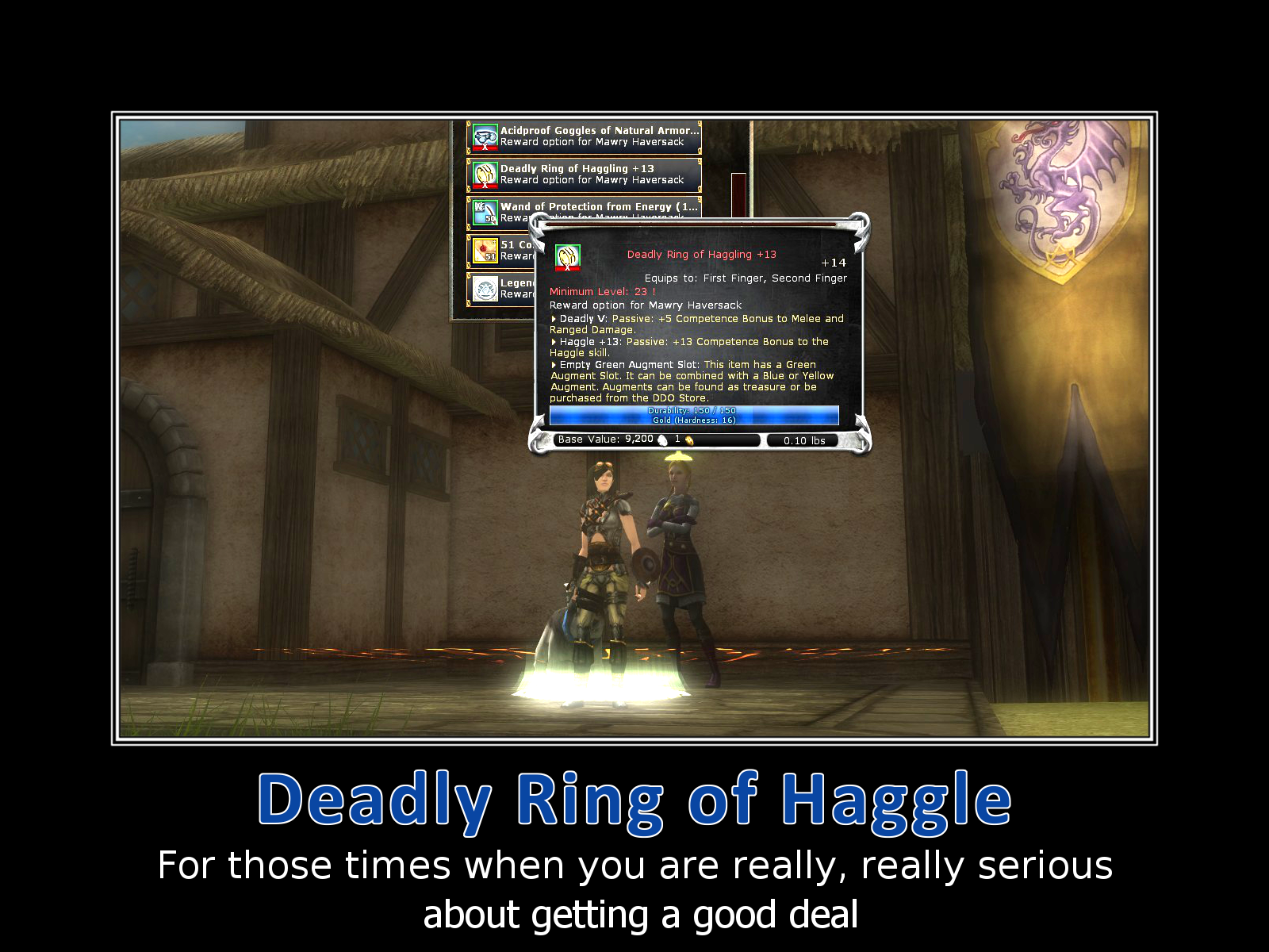 Deadly Ring of Haggle