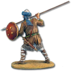 One-handed spear and shield