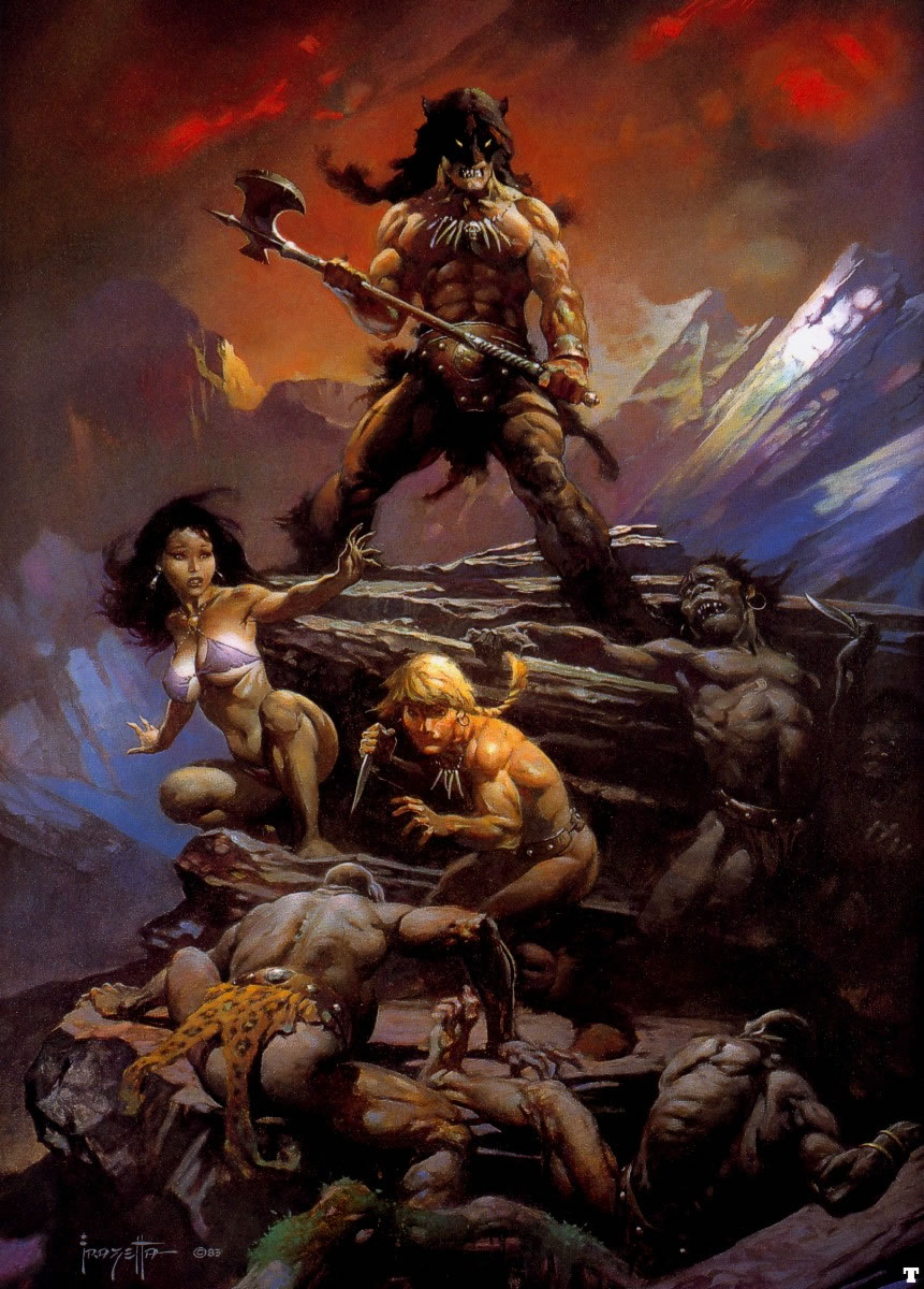 Fire and Ice - by Frank Frazetta