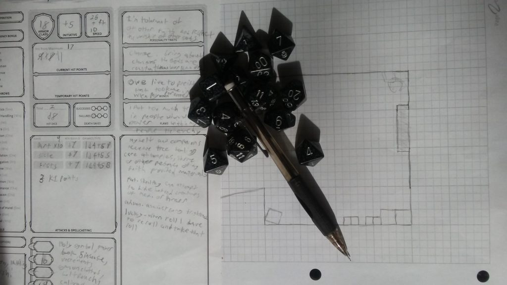 Dice and Pencil
