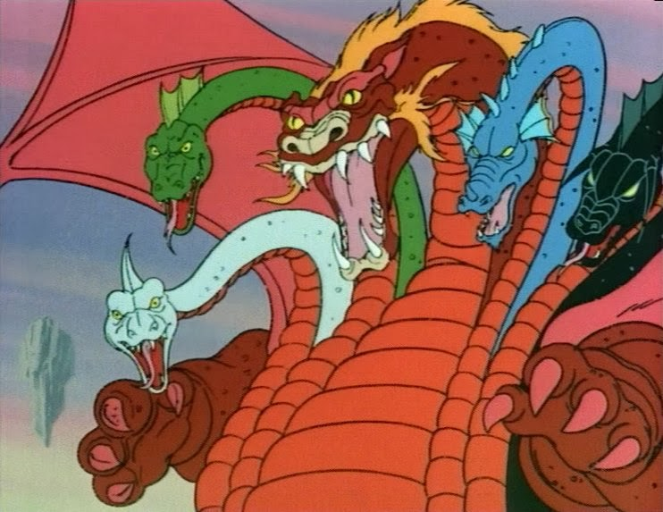 Tiamat in the Dungeons & Dragons cartoon