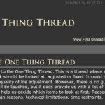 The One Thing Thread