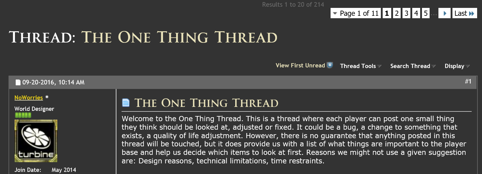 one-thing-thread